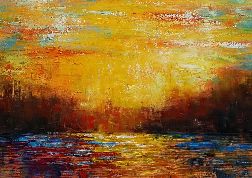Original Wall Art, Abstract Painting, Abstract Landscape Art, Large Art, Canvas Art, Wall Art, Canvas Painting, 362