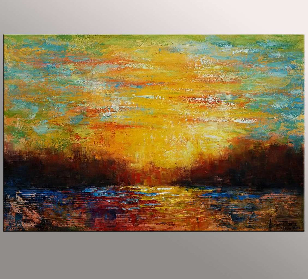Original Wall Art, Abstract Painting, Abstract Landscape Art, Large ...