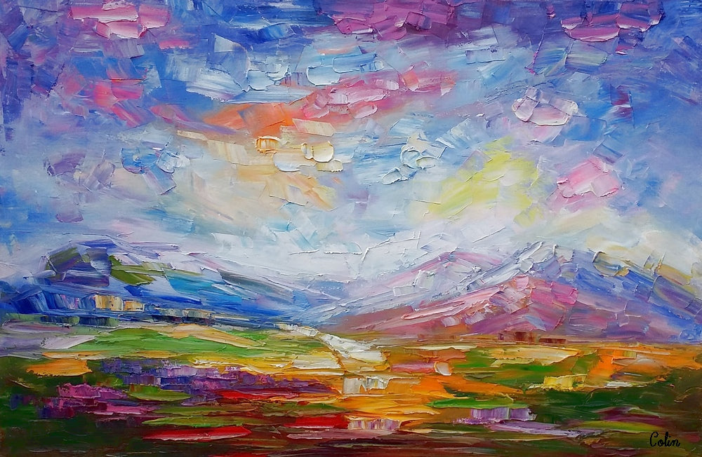 Canvas Art, Oil Painting, Abstract Painting, Landscape Painting, Canvas Painting
