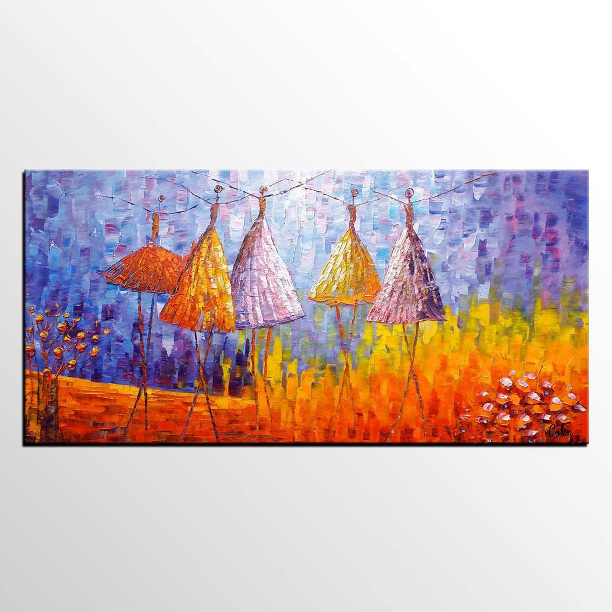 Abstract Landscape Painting, Ballet Dancer ...