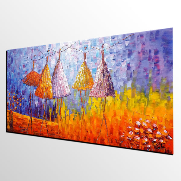 Wall Art, Canvas Painting, Large Art, Canvas Art, Ballet Dancer Painting, Oil Painting, Abstract Painting, Impasto Art