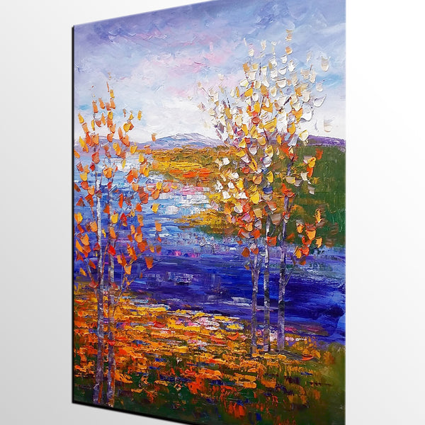 Landscape Painting, Tree Painting, Oil Painting, Abstract Painting, Large Art, Canvas Art, Living Room Wall Art, Canvas Painting, Impasto Art - artworkcanvas