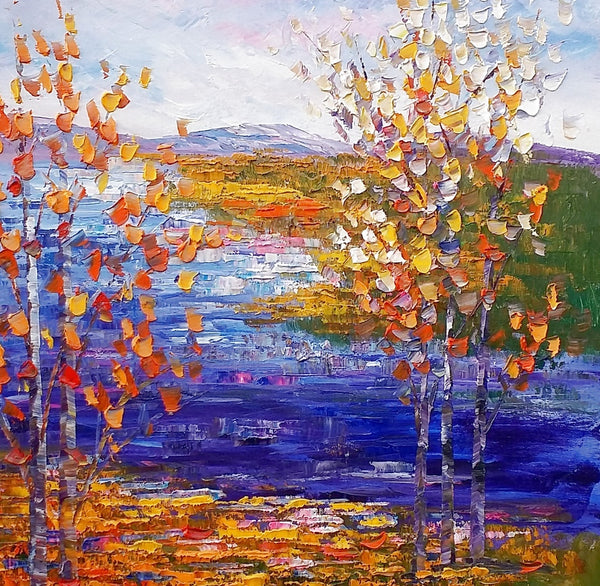 Landscape Painting, Tree Painting, Oil Painting, Abstract Painting, Large Art, Canvas Art, Living Room Wall Art, Canvas Painting, Impasto Art