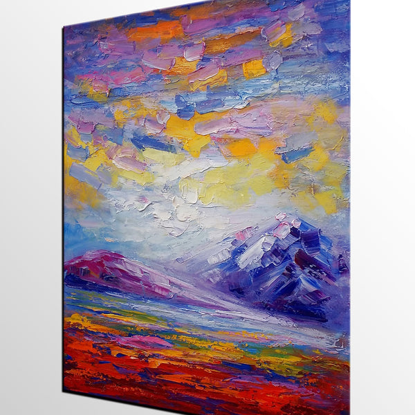 Landscape Painting, Original Painting, Oil Painting, Abstract Painting, Large Art, Canvas Art, Living Room Wall Art, Canvas Painting