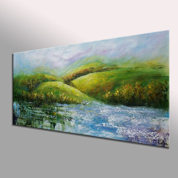 Mountain Landscape Painting, Bedroom Wall Art, Landscape Art, Large Art, Canvas Art, Wall Art, Original Painting, 363