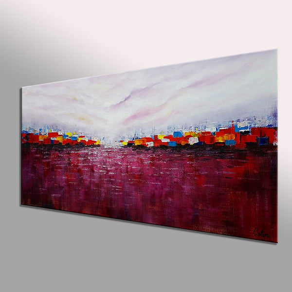 Cityscape Art, Abstract Art, Original Wall Art, Abstract Painting, Large Art, Canvas Art, Wall Art, Original Artwork, Acrylic Art, 364
