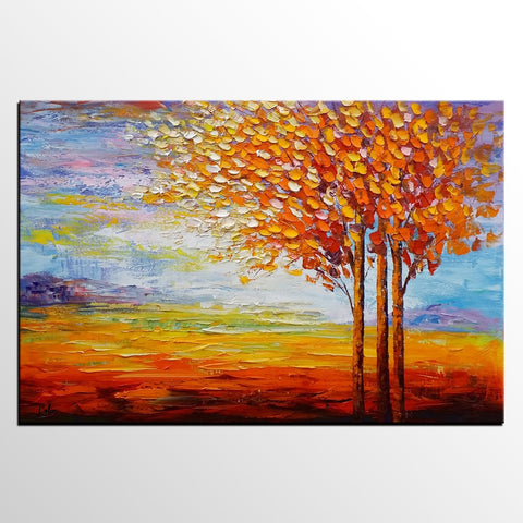 Canvas Art, Wall Art, Canvas Painting, Oil Painting for Sale, Landscape Painting, Dining Room Wall Decor, Abstract Painting, Large Art - artworkcanvas