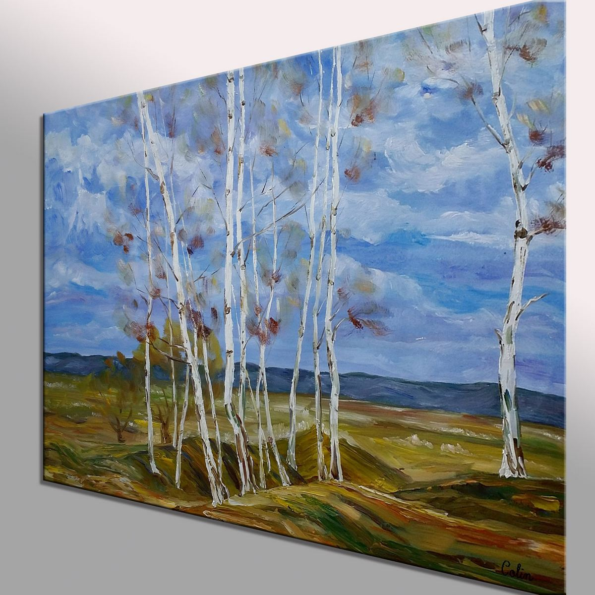 Landscape Art, Autumn Tree Painting, Original Wall Art, Large Art, Canvas Art, Wall Art, Original Artwork, Canvas Painting, Oil on Canvas, 366