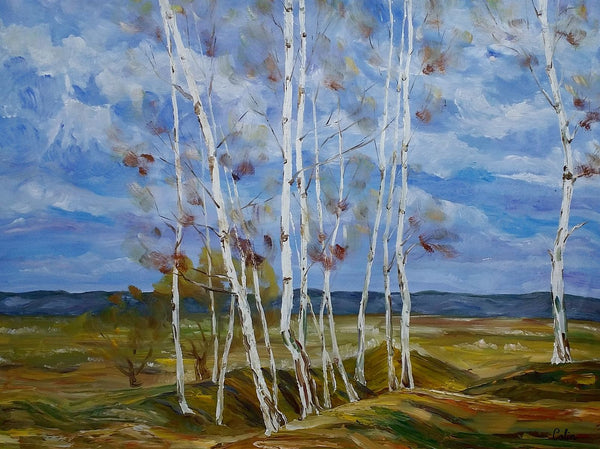 Landscape Art, Autumn Tree Painting, Original Wall Art, Large Art, Canvas Art, Wall Art, Original Artwork, Canvas Painting, Oil on Canvas, 366 - artworkcanvas