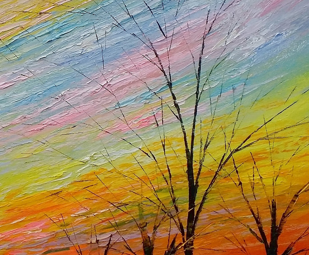 Art Painting, Original Painting, Colorful Sky Painting, Landscape Painting, Wall Art, Oil Painting, Canvas Wall Art, Abstract Art, Large Art