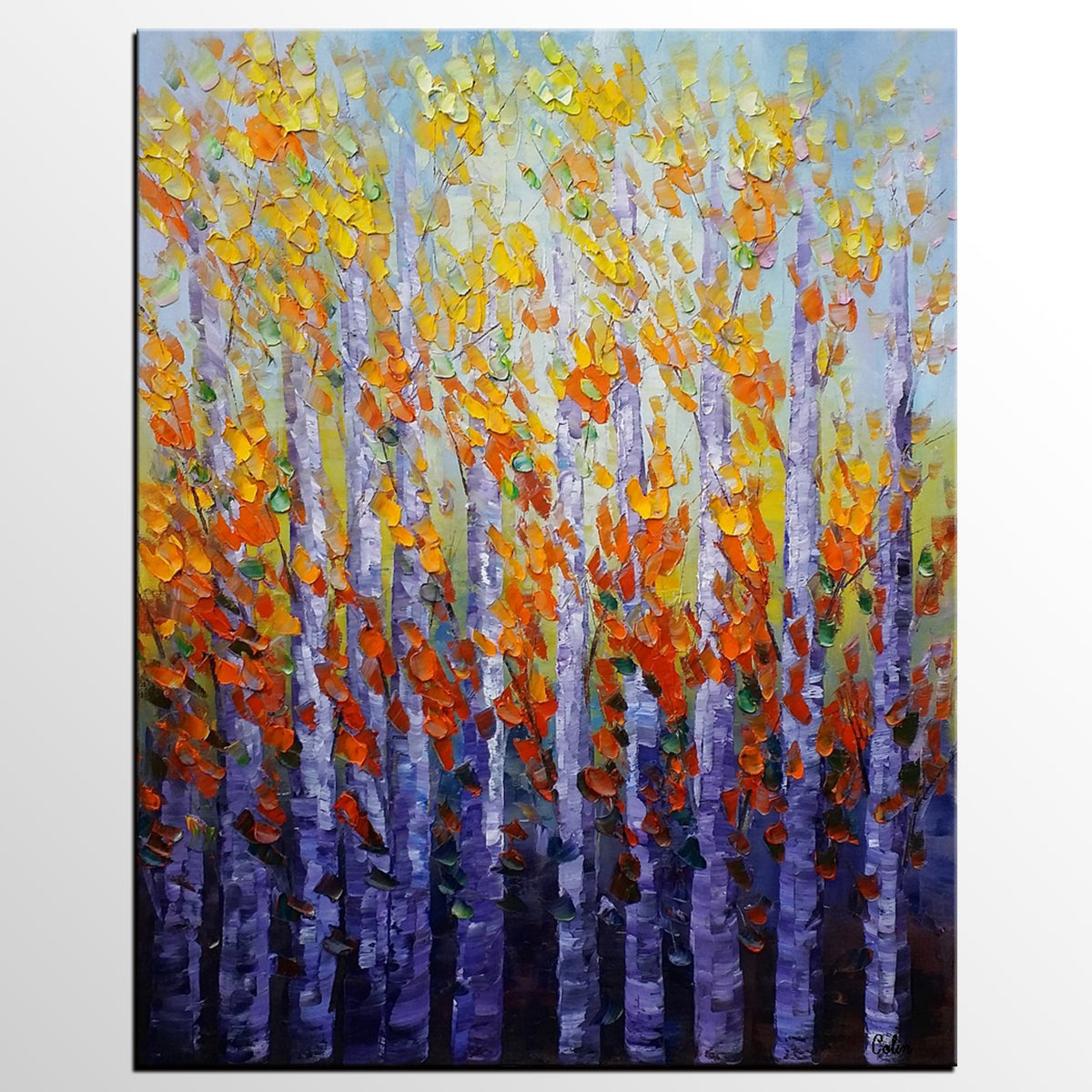 Canvas Art, Autumn Forest Painting, Canvas ...