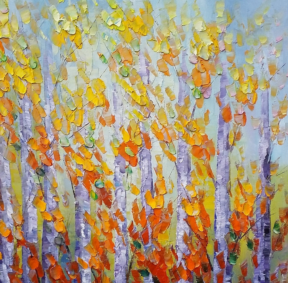 Canvas Art, Autumn Forest Painting, Canvas Wall Art, Landscape Painting, Wall Art, Oil Painting, Large Art, Canvas Art