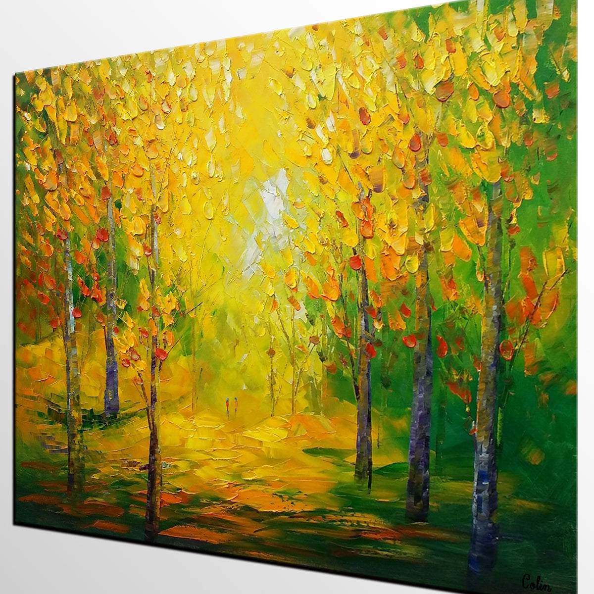 Abstract Art, Canvas Art, Landscape Painting, Rustic Wall Art, Oil Painting Canvas, Original Wall Art, Autumn Painting