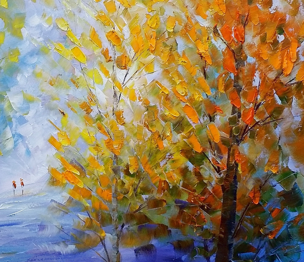Autumn Forest Painting, Original Wall Art, Landscape Painting, Large ...