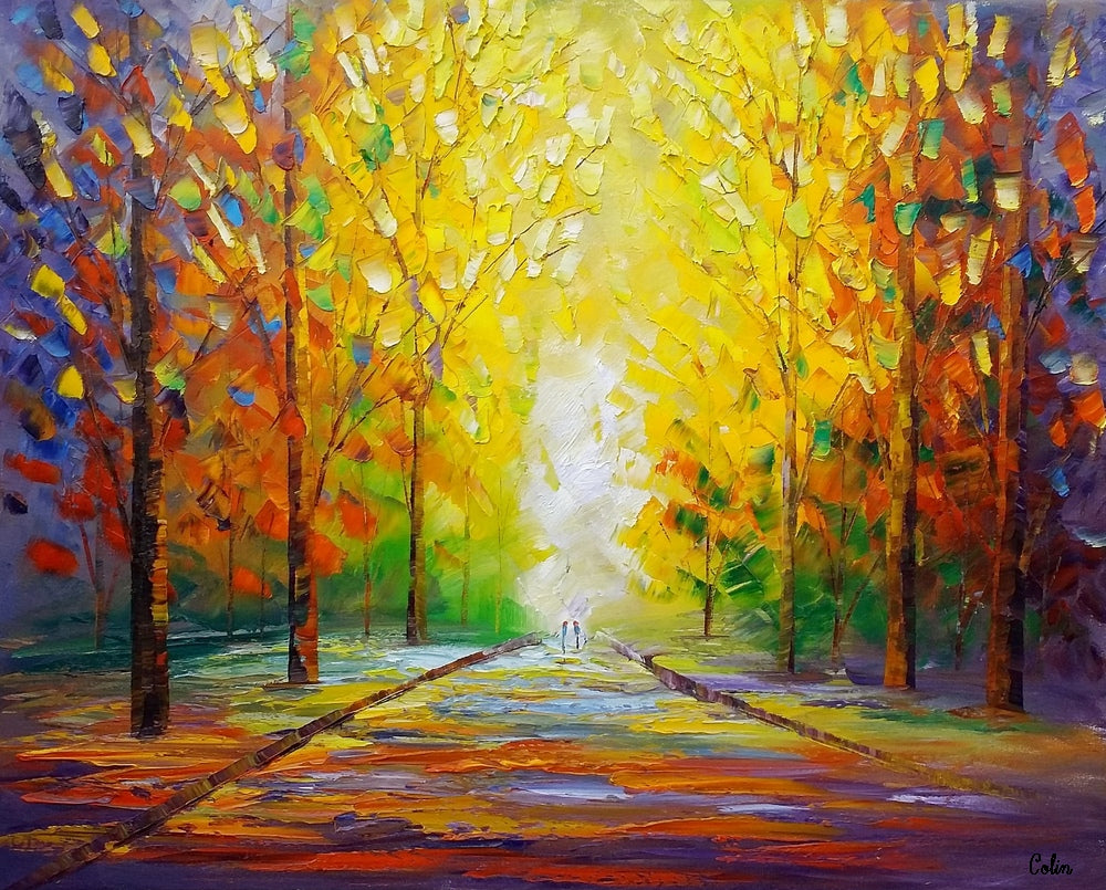 landscape painting large canvas painting modern wall art canvas