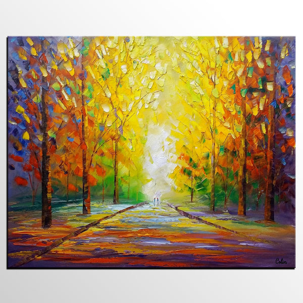 Landscape Painting, Large Canvas Painting, Modern Wall Art, Canvas Art, Wall Art, Original Artwork, Large Abstract Painting, Tree Painting
