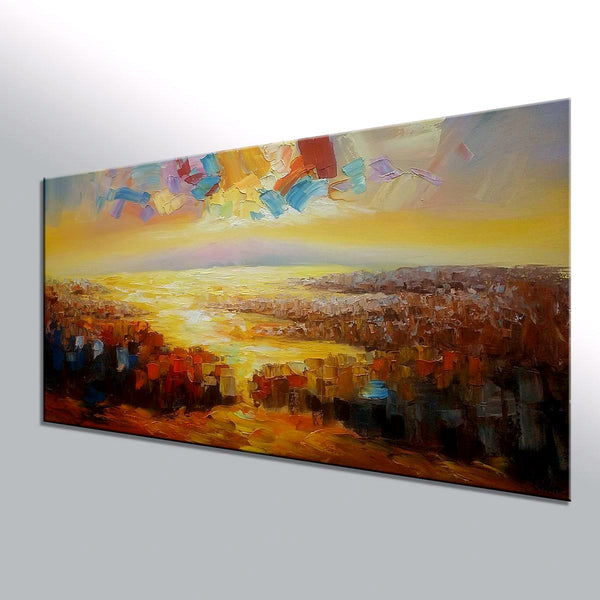 Large Art, Original Wall Art, Abstract Landscape Painting, Oil Painting, Canvas Art, Wall Art, Contemporary Artwork, 371 - artworkcanvas