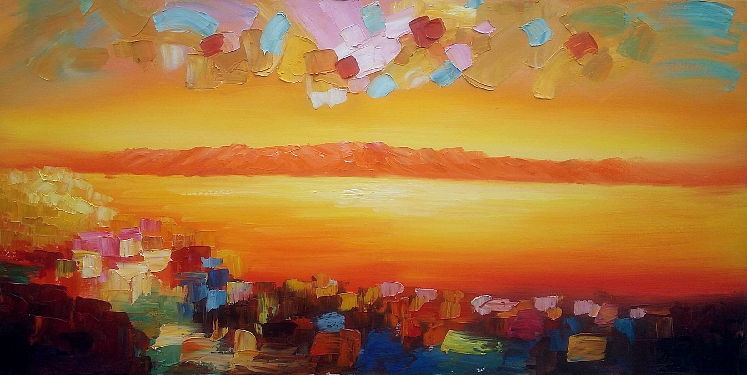 Abstract Painting, Original Wall Art, Abstract Landscape Art, Large Art, Canvas Art, Wall Art, Original Oil Painting, 372