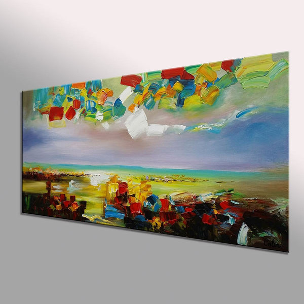 Landscape Painting, Large Abstract Art, Canvas Oil Painting, Wall Art, Original Artwork, Canvas Painting, Oil Painting, 375