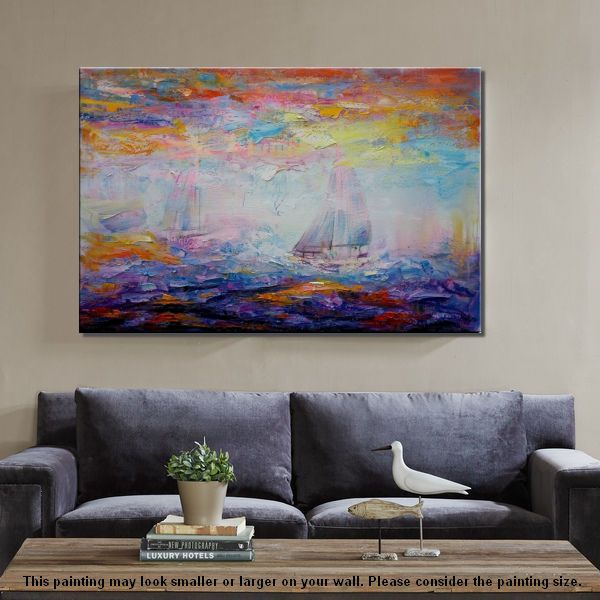 Large Art, Canvas Art, Canvas Painting, Abstract Landscape Painting, Wall Decor, Wall Art, Abstract Art, Abstract Painting, Modern Art - artworkcanvas