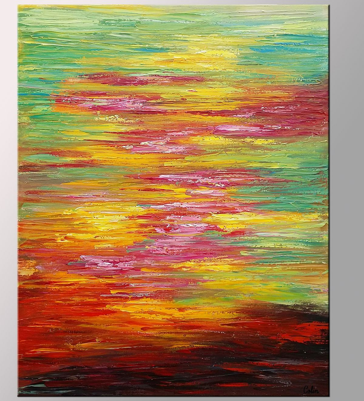 Abstract Landscape Painting, Original Wall Art, Abstract Art, Large Art, Canvas Art, Wall Art, Original Artwork, Heavy Texture, 380