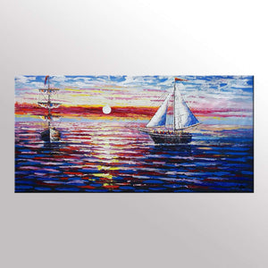 Original Painting, Sail Boat Painting, Seascape Painting, Framed Art, Canvas Art, Wall Art, Canvas Art, Canvas Painting, 392