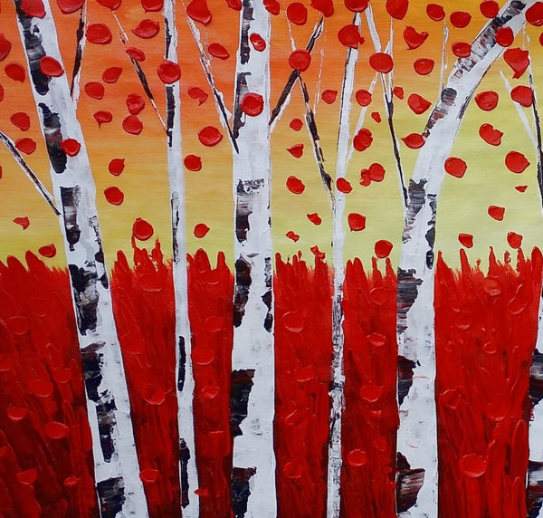 Landscape Painting, Autumn Tree Painting, Large Art, Canvas Art, Wall Art, Original Artwork, Canvas Painting, Decorative Art, 396 - artworkcanvas