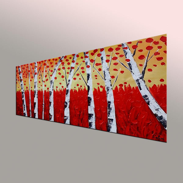 Landscape Painting, Autumn Tree Painting, Large Art, Canvas Art, Wall Art, Original Artwork, Canvas Painting, Decorative Art, 396-artworkcanvas
