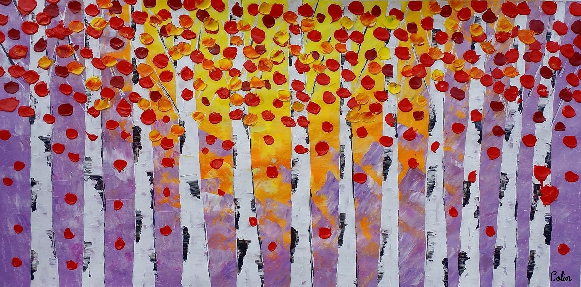 Autumn Tree Painting, Landscape Painting, Large Art, Canvas Art, Wall Art, Original Artwork, Canvas Painting, Home Art, 397