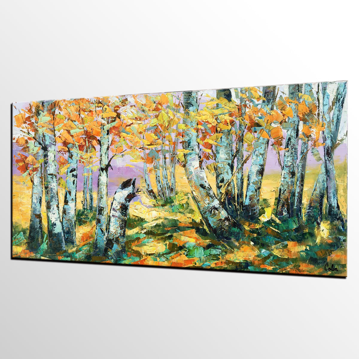 Autumn Tree Painting, Large Wall Art, Landscape Painting, Large Art, Canvas Art, Wall Art, Original Artwork, Canvas Painting, Oil Painting, Art on Canvas 194