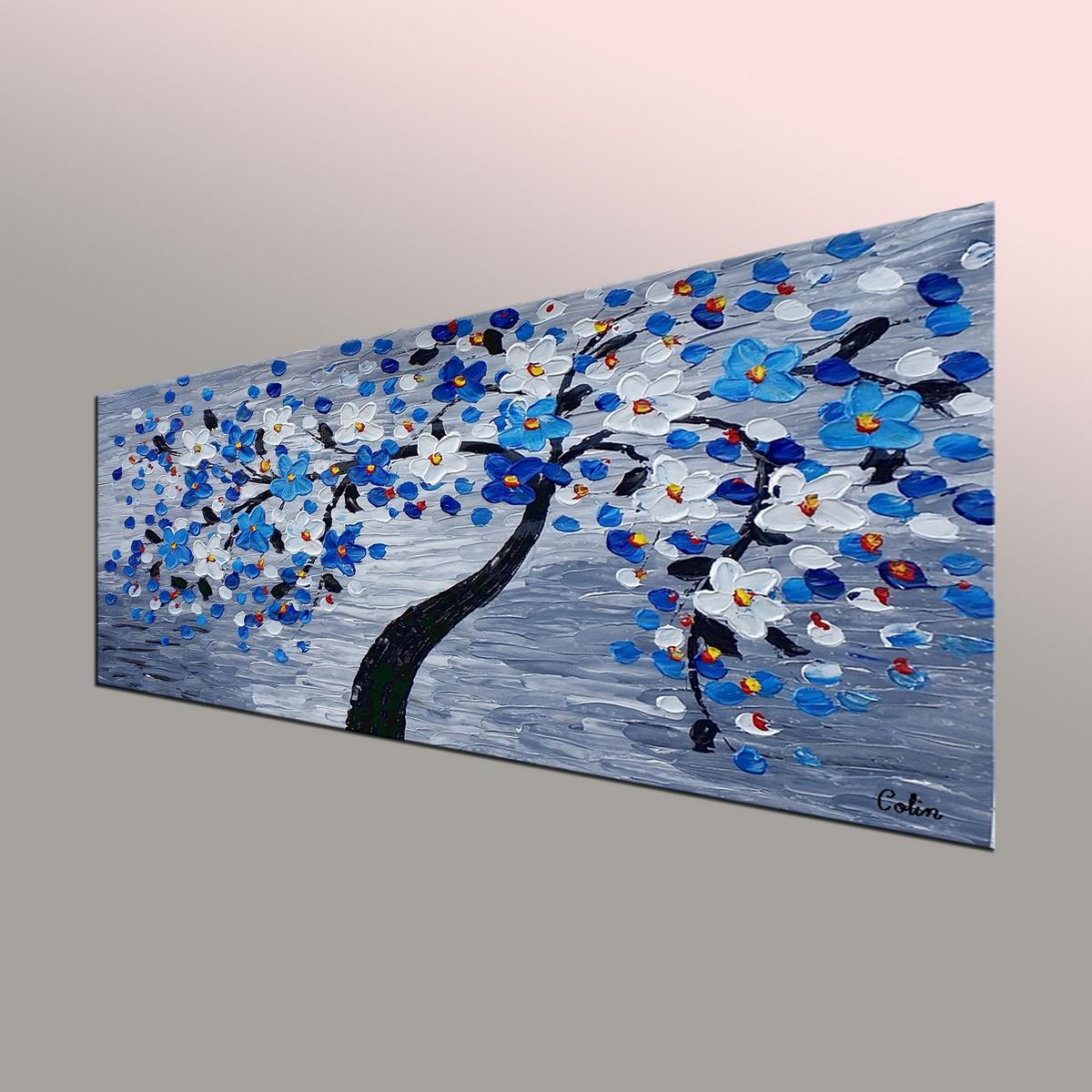 Flower Tree Painting, Original Art, Flower Painting, Abstract Art, Canvas Art, Wall Art, Abstract Painting, 400