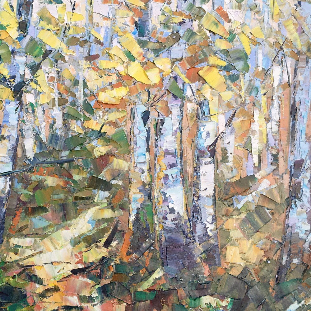 Autumn Forest Art, Abstract Painting, Landscape Painting, Canvas Wall Art, Oil Painting