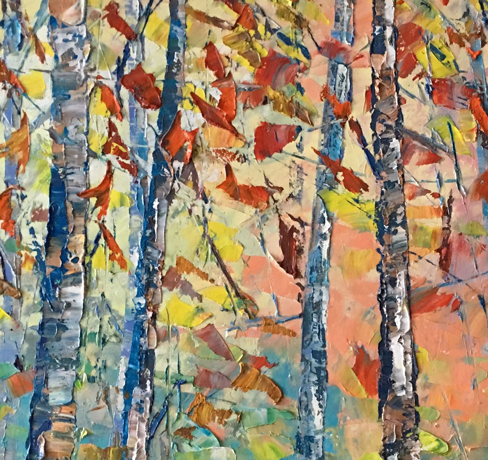 Large Art, Landscape Painting, Original Wall Art, Birch Tree Painting, Canvas Art, Wall Art, Original Artwork, Oil Painting