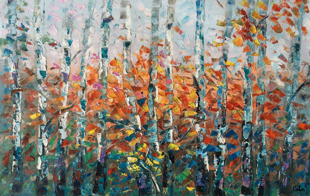 Birch Tree Wall Art, Wall Art, Large Art, Canvas Art, Original Painting, Original Artwork, Art on Canvas, Ready to Hang