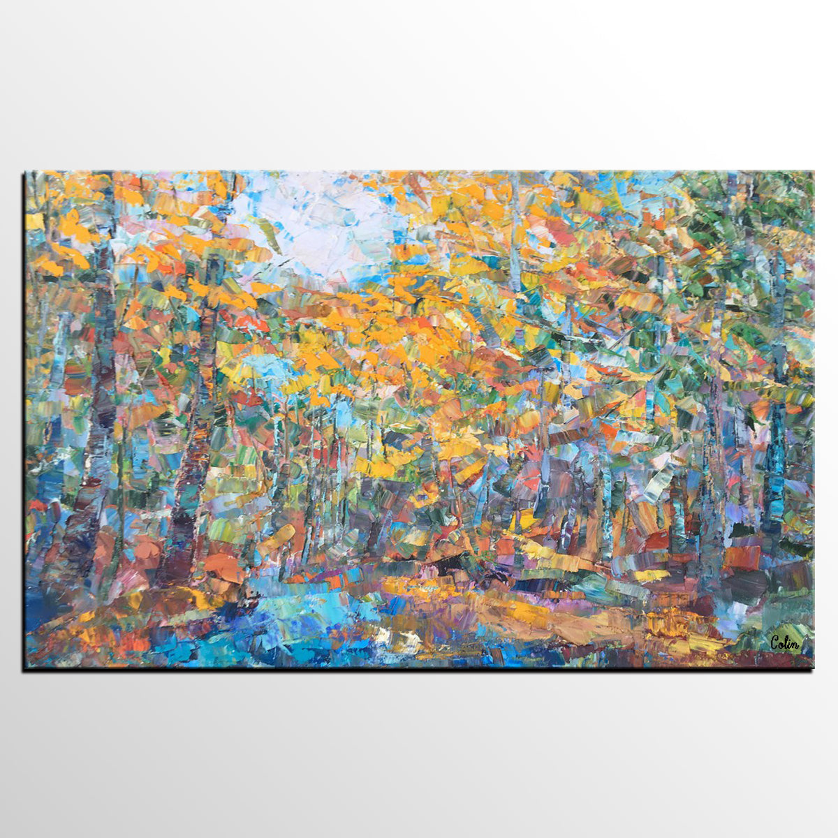 Forest Tree Painting, Landscape Painting, A...