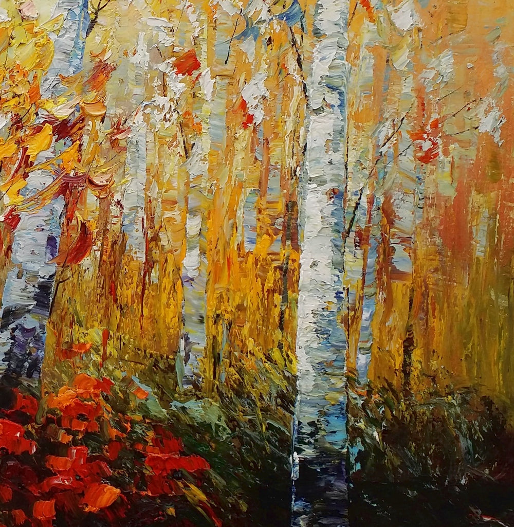 Original Wall Art, Heavy Texture Painting, Tree Art, Oil Painting