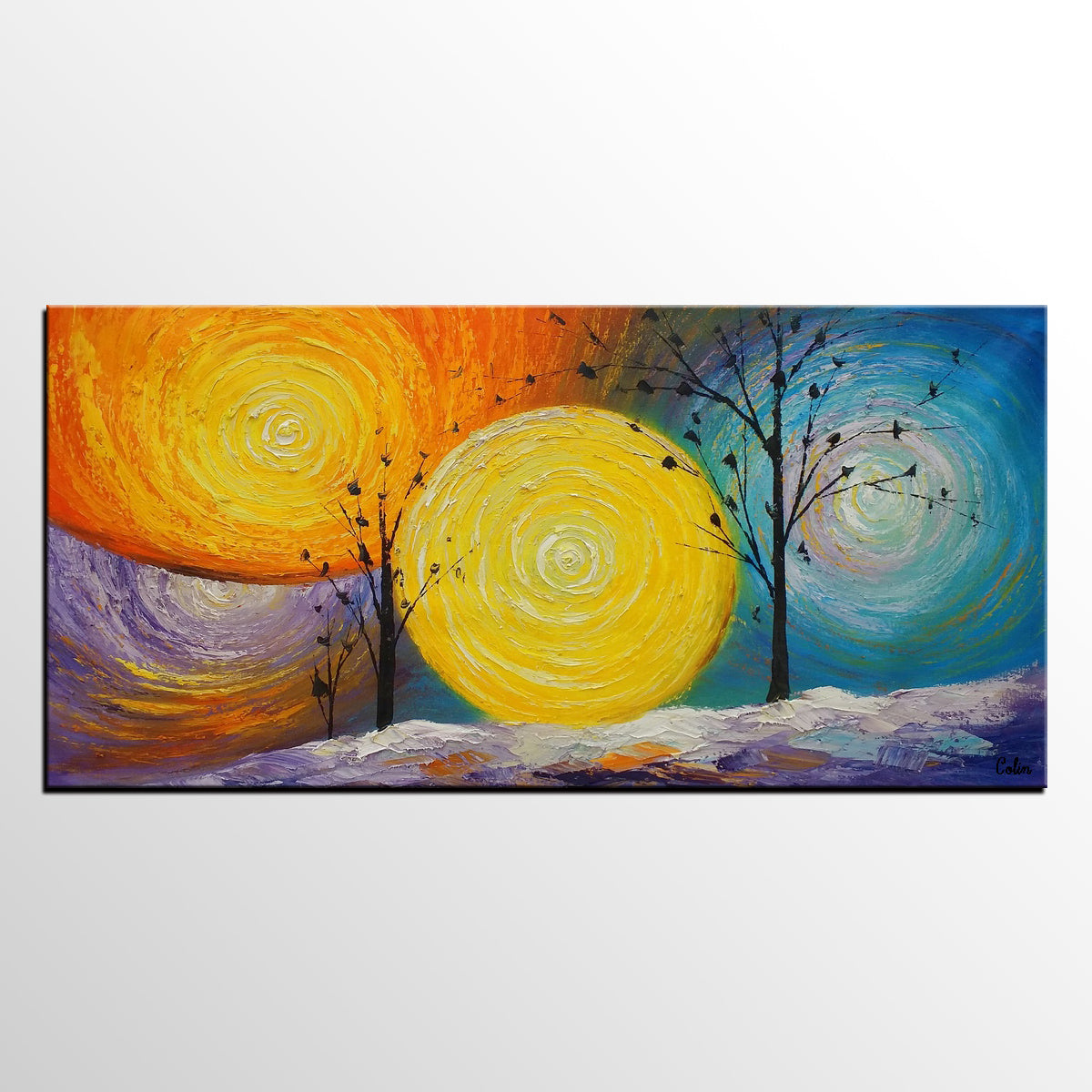 Tree of Life Painting, Kitchen Wall Art, Original Painting, Heavy Texture Art, Original Art for Sale