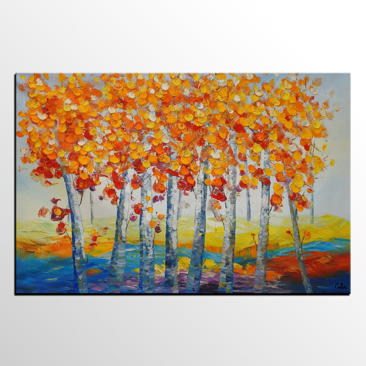Oil Painting, Landscape Painting, Large Art, Canvas Wall Art, Canvas Painting