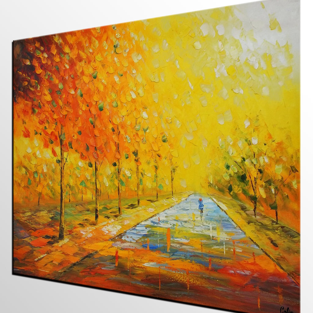 Home Art, Canvas Art, Autumn Tree Painting, Bedroom Painting, Wall ...