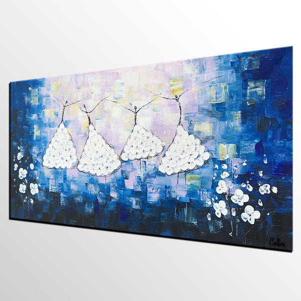 Canvas Wall Art, Ballet Dancer Painting, Original Artwork, Canvas Painting - artworkcanvas