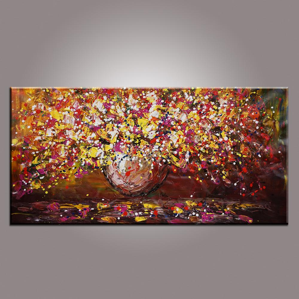 Flower Painting, Original Wall Art, Abstrac...