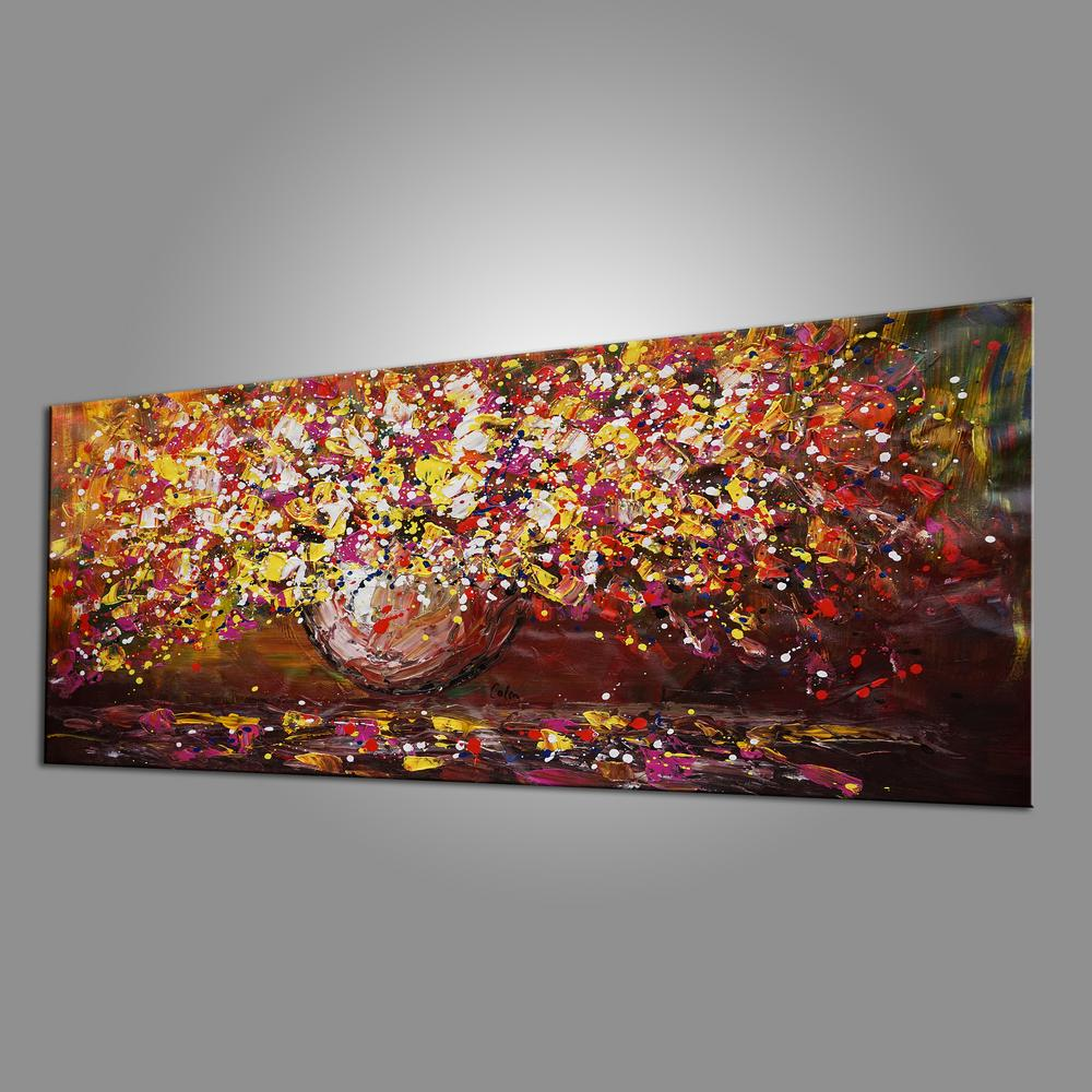 Flower Painting, Original Wall Art, Abstract Painting, Home Art, Canvas Art, Wall Art, Original Painting, Acrylic Art, 409