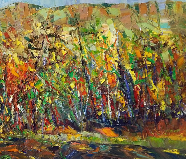 Forest Tree Painting, Landscape Painting, Canvas Painting, Painting for Sale - artworkcanvas