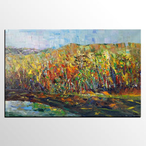 Forest Tree Painting, Landscape Painting, Canvas Painting, Painting for Sale