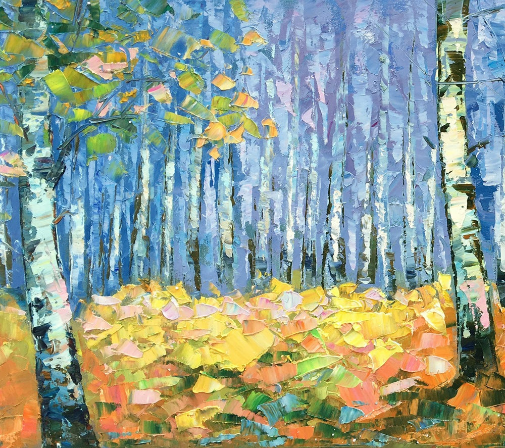 Canvas Art, Autumn Forest Painting, Landscape Painting, Canvas Wall Art, Oil Painting