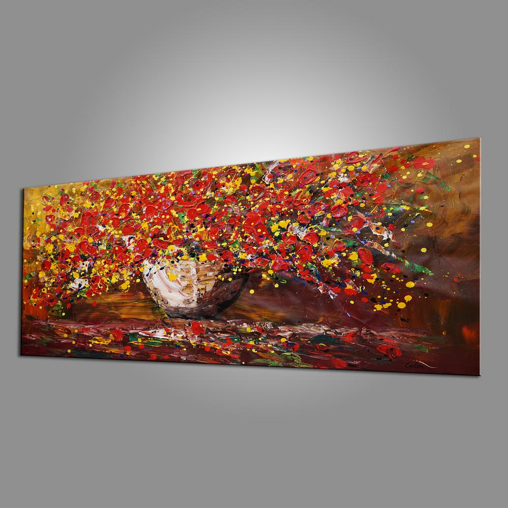 Original Wall Art, Abstract Painting, Flower Painting, Home Art, Canvas Art, Wall Art, Abstract Painting, Acrylic Art, 410
