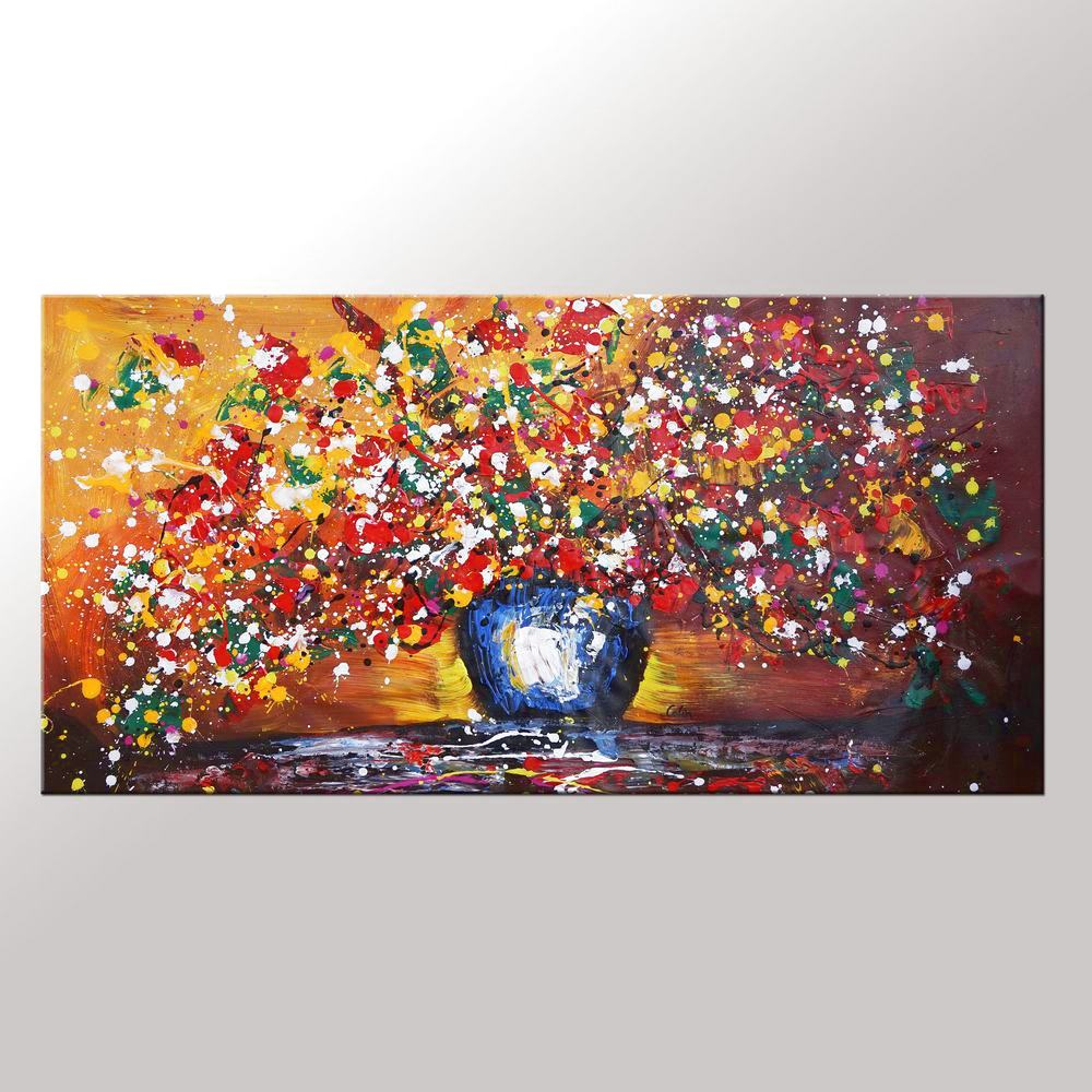 Flower Painting, Sill Life Art, Bedroom Art...
