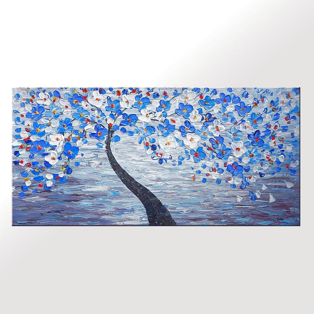 Flower Tree Painting, Sill Life Art, Bedroom Art, Large Art, Canvas Art, Wall Art, Canvas Artwork, Canvas Painting, 424