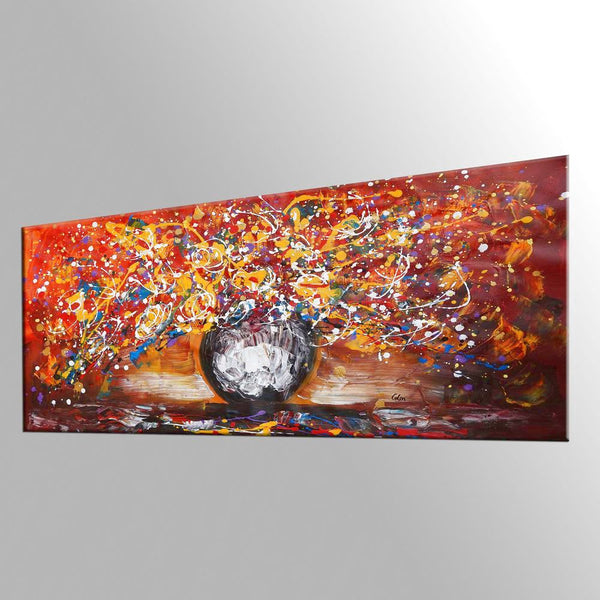 Home Art, Abstract Painting, Canvas Art, Wall Painting, Flower Painting, Wall Art, Original Painting, Still Life Art, Kitchen Wall Art, 427 - artworkcanvas
