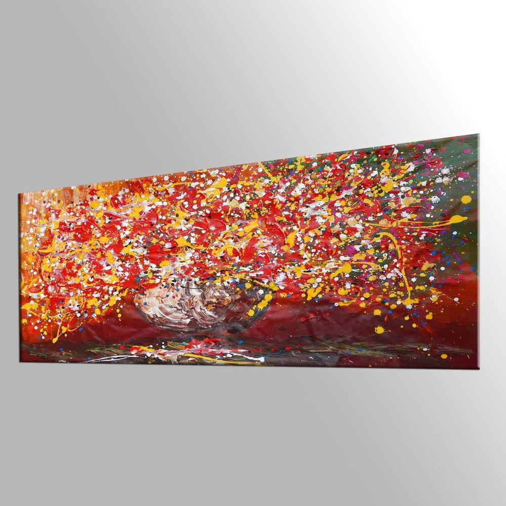 Sill Life Art, Flower Painting, Kitchen Wall Art, Large Painting, Canvas Art, Wall Art, Bedroom Artwork, Canvas Painting, 428